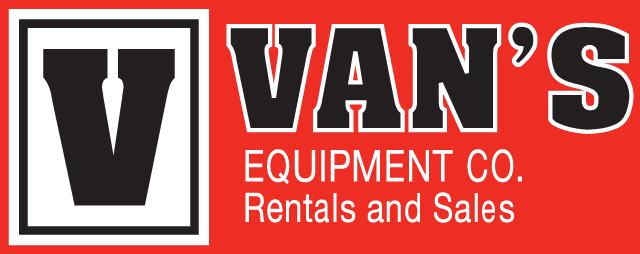 Vans Equipment Rental Black and Red Logo